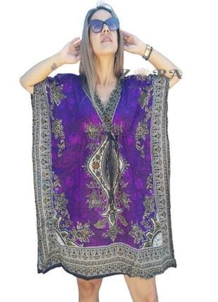 Vestido kaftan indiano saida de praia barato