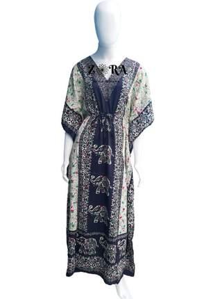 Vestido kaftan indiano longo