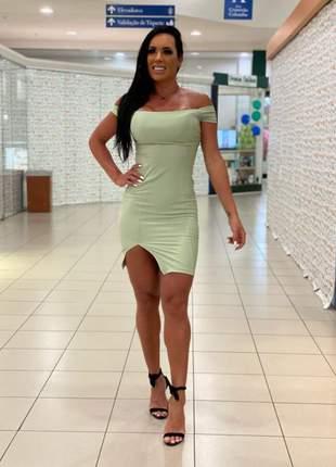 Vestido casual verde midi