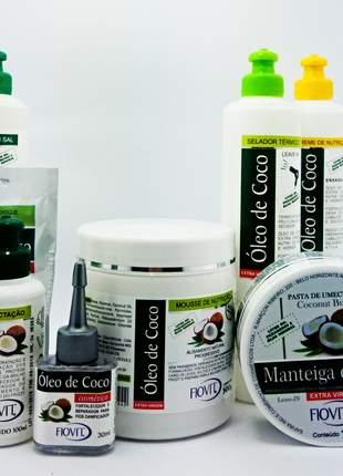 Kit fiovit óleo de coco completo 08 produtos