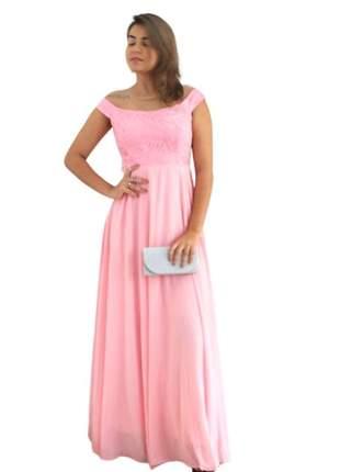 Vestido rosa bebê de festa longo dama 15 anos madrinha casamento bordado luxo