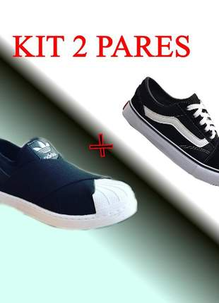 Tenis pra caminhada f kit 2 pares