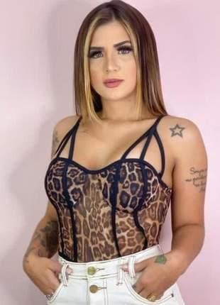 Body blusa tule 3 alças lançamento promoção