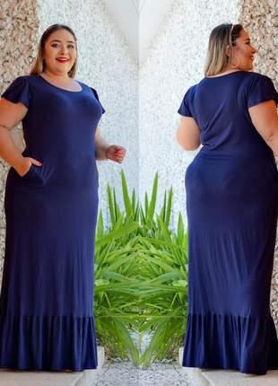 Vestido longo feminino – plus size