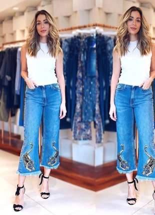 Calça pantacour rosie jeans jeanseria