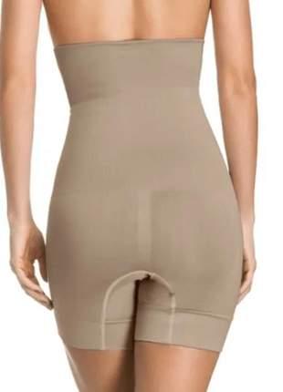 Bermuda cinta modeladora para cintura e barriga, anti-atrito entre-pernas