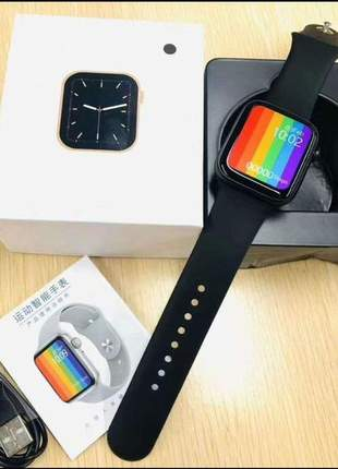 Relógio smartwatch iwo w26 tela infinita notificações esporte prova d'agua