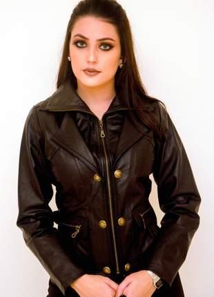 Jaqueta de couro modelo charlott