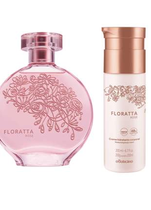 Kit perfume + hidratante corporal floratta rose o boticário