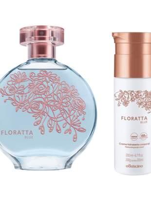 Kit perfume + hidratante corporal floratta blue o boticário
