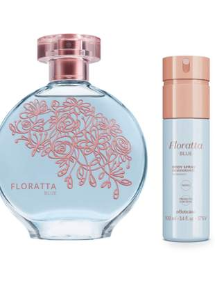Kit perfume + body spray floratta blue o boticário