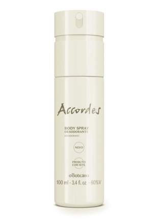 Desodorante body spray accordes o boticário 100ml