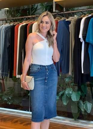 Saia jeans midi loony tamanhos pp-40,p-42,m-44,g-46, gg-48