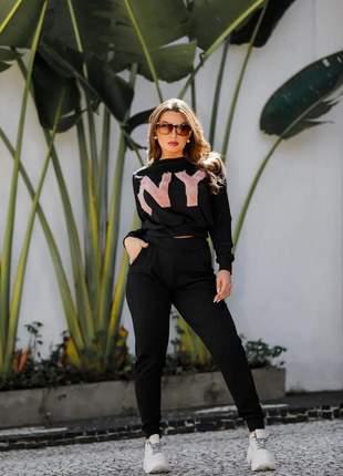 Conjunto blusinha e calça tendência