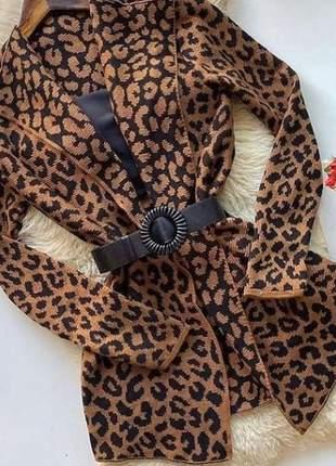 Kimono cardigan trico feminino longo oncinha