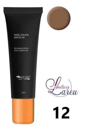 Base liquida matte hd nº 12 max love (+ 11 tons na lareu)