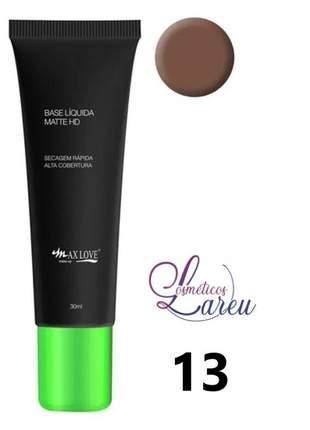 Base liquida matte hd nº 13 max love (+ 11 tons na lareu)