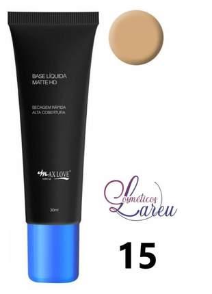 Base liquida matte hd nº 15 max love (+ 11 tons na lareu)