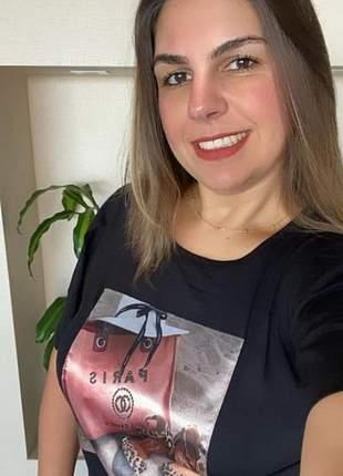 T-shirt estampa bolsa paris