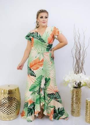 Vestido longo social melany, cor verde. moda evangélica. promoção