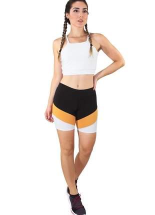 Conjunto fitness cropped branco e calça fitness preto com branco moda fitness