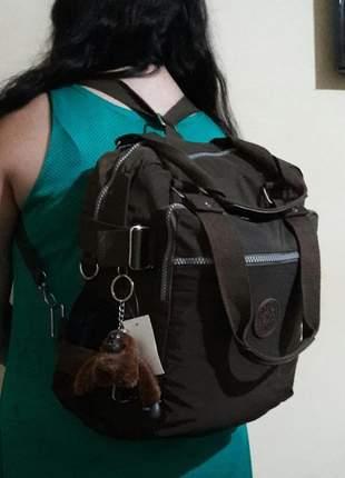 Mochila bolsa 3x1mochila - bolsa de mão ou bolsa tiracolo kipling