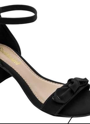 Saltinho feminino sandália salto grosso confortável shekinah