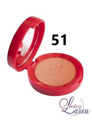 Blush matte ultra fino com espelho nº 51 max love (+ 5 tons lareu)