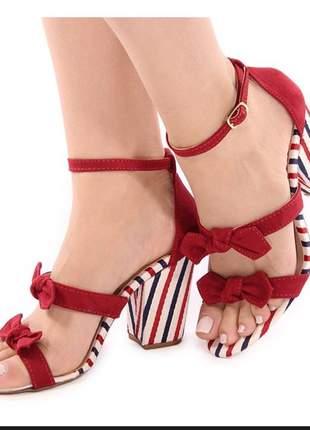 Sandalias femininas anabela salto grosso