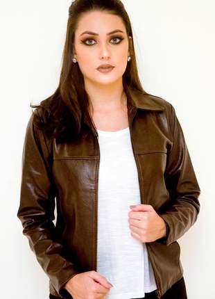 Jaqueta de couro modelo zaira