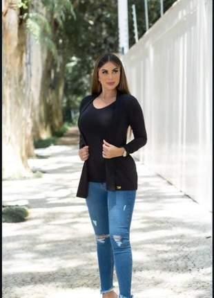 Conjunto blusinha vest leg + cardigã