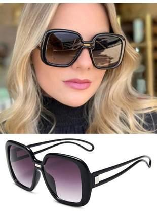 Óculos de sol feminino chique luxo retrô vintage estojo