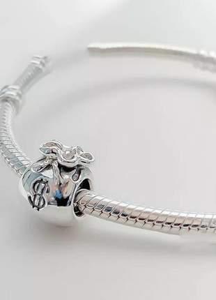 Berloque saco de dinheiro charm compatível com bracelete pandora vivara