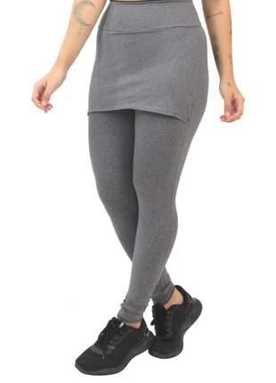 Calça saia legging fitness mescla moda fitness