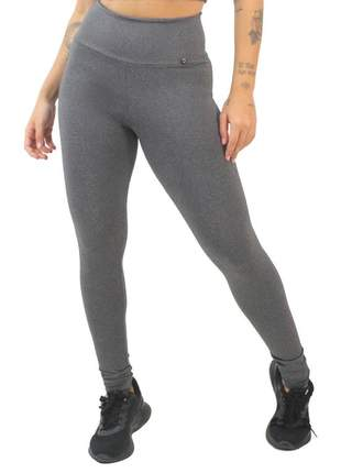 Calça legging fitness mescla lisa moda fitness