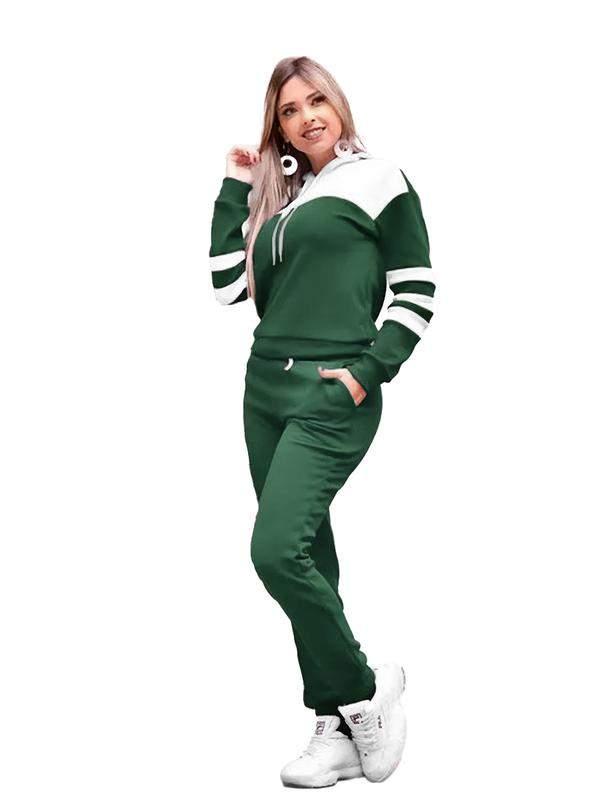 Conjunto blusa e calça feminino moletom frio inverno r:1063(verde)