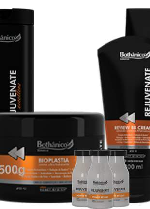 Kit rejuvenate excellens bothanico hair completo com power dose (ampolas) e mascara 500g