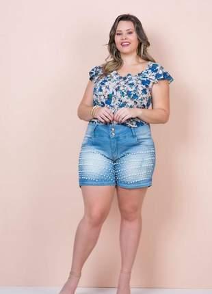 Blusa feminina plus size viscose lançamento verão 2019 floral