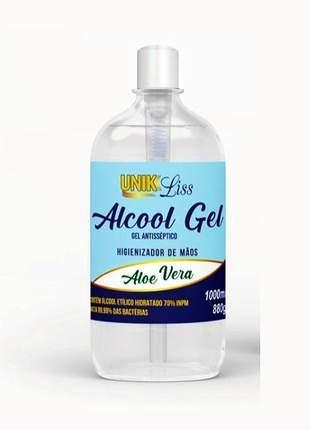 Álcool gel 70 higienizante p/ mãos unik liss 500ml