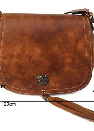 84377bbbd Bolsa canady à tiracolo caramelo pequena - R$ 45.99 (artesanal, com ...