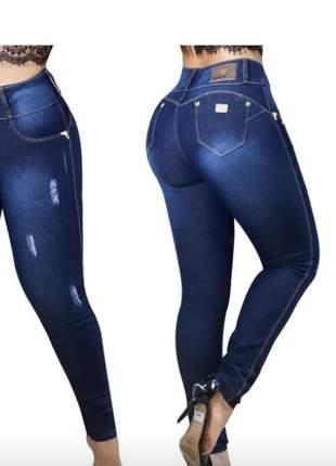 Calças jeans fabrica cintura alta 8 botões comprar barata