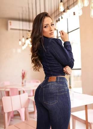 Jaqueta jeans feminina maravilhosa