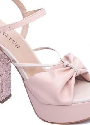 Sandalias meia pata rose luxo