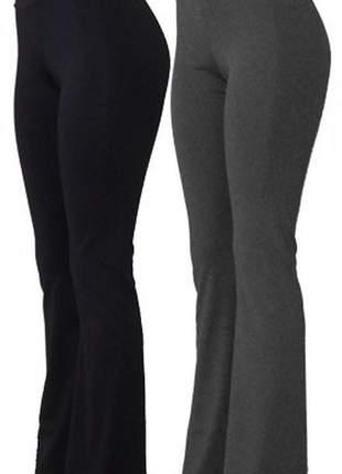 Kit 2 calças flare estampada lisa moda feminina