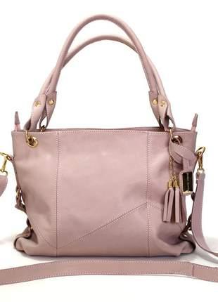 Bolsa clara borges rose 100% couro luxo ,estilosa.