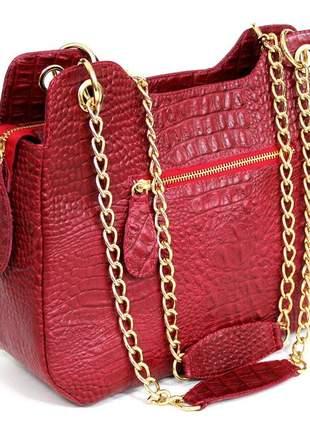 Lançamento bolsa clara borges estilosa luxo 100% couro.