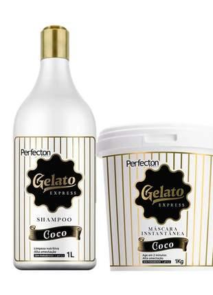 Kit vizet gelato coco shampoo + máscara gelato 950g