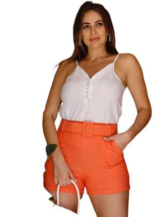 Blusa regata perolas tecido crepe roupas femininas