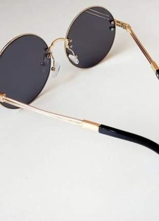 Óculos de sol redondo moda gringa lançamento 2021