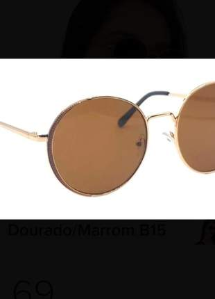 Óculos de sol round stylish original feminino 2021